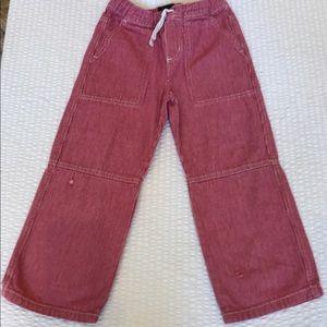 Red striped denim cotton Mini Boden